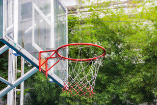 Basketball hoop in the park