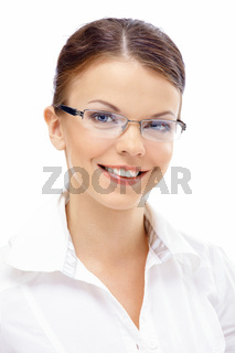 Portrait of smiling young business woman