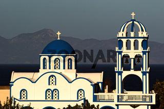 Greek Church At Kamari Santorini