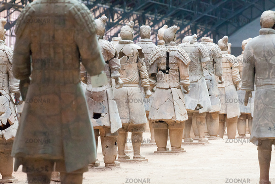 xian terracotta army from behind
