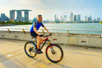 Singapore healthy lifestyle bike riding