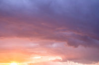 scenic sunset sky , dramatic cloud sky , colorful clouds