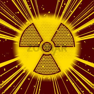 radioactive explosion