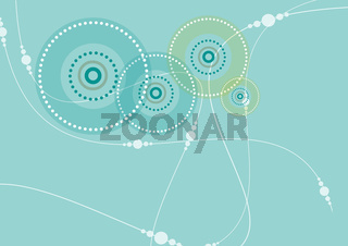 Circular Pattern in Teal