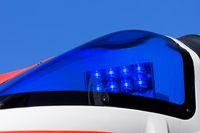 blue lights of an emergency ambulance