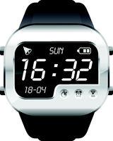 digital watch in steel body