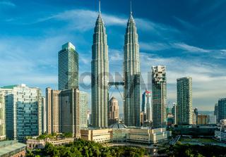 Kuala Lumpur skyline overlook