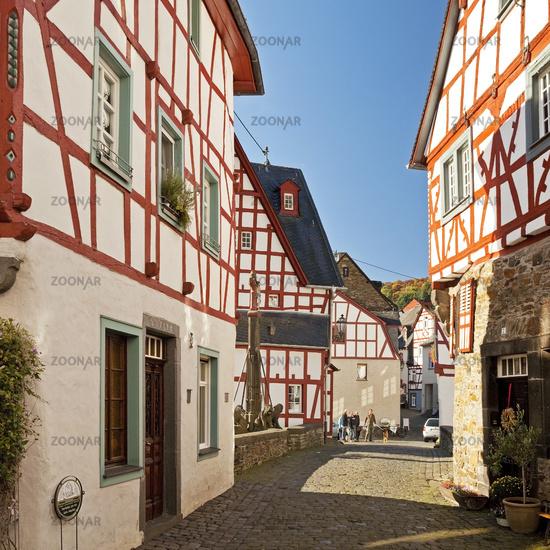 historical city with half-timbered houses, Monreal, Eifel, Rhineland-Palatinate, Germany, Europe