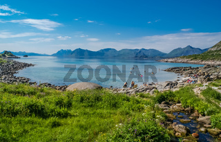 Rorvika beach in Norway