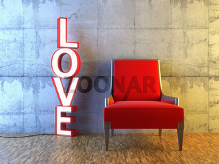 Red seat and light love