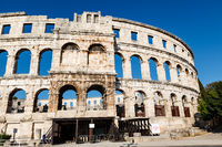 Ancient Roman Amphitheater in Pula, Istria, Croatia