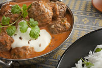 Indian Meatball or Kofta Curry Meal