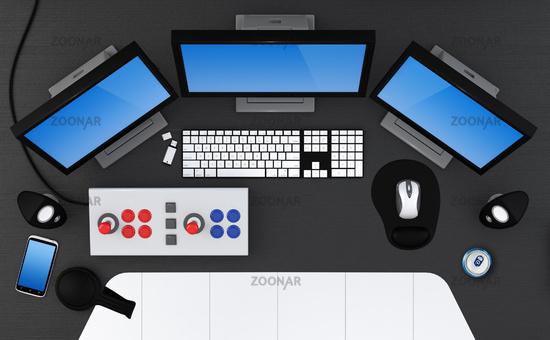 Gaming station.