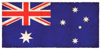 Grunge flag of Australia