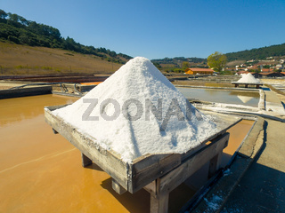 Production of Salt by Evaporation Saline