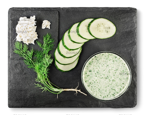 Vegetarian smoothie from cucumber