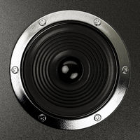 sound speakers stereo system Hi-Fi 3d illustration