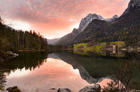 Alpine lake Hintersee, Germany