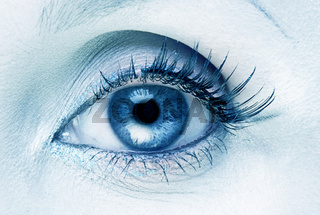 Abstract blue eye background
