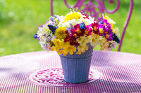 Bunter Frühlingsblumenstrauß