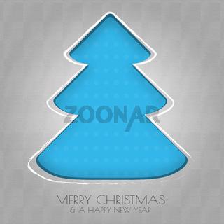 Papier Weihnachtsbaum blau
