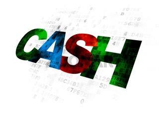 Banking concept: Cash on Digital background
