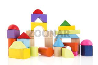 Village from toy blocks