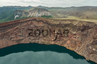 Lake in the Caldera volcano Ksudach. South Kamchatka Nature Park.