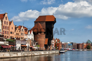 City skyline of Gdansk in Poland