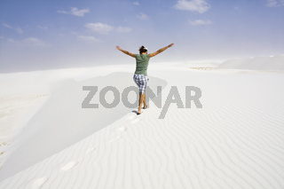Enjoying dunes