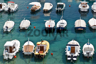 Boats in Marina of Dubrovnik, Croatia