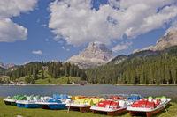 Pedal boats in Lake Misurina