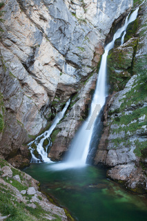 Savica waterfall, Bohinj Lake, Slovenia.