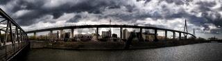 Panorama der Köhlbrandbrücke