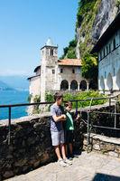 children at santa Caterina del Sasso,Lake Maggiore