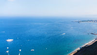 view of Ionian sea coastline from Taormina