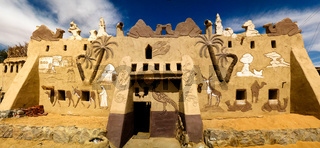 The facade of Badr Museum and house, Farafra, Egypt