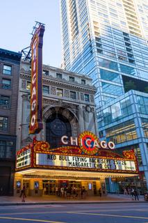 Chicago Theatre At Night