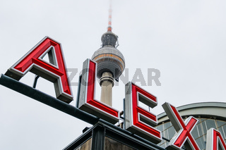 Tv Tower at Alexanderplatz in Berlin, Germany