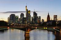 The Skyline of Frankfurt by Night