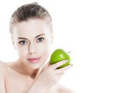 Perfect woman with apple