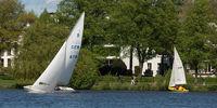 Sailing on lake Alster