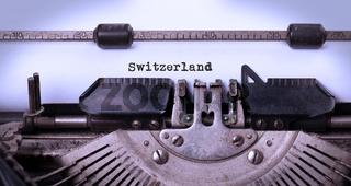Old typewriter - Switzerland