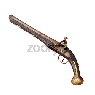 ancient historic shotgun isolated on white background