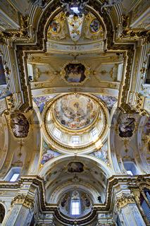 Barockdecke der Kathedrale von Bergamo, Italy
