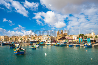 Old fisherman village of Marsaxlokk, Malta