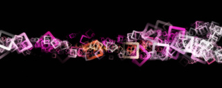Abstract panorama square background design illustration