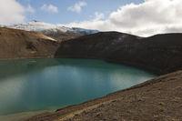 Iceland, crater Stóra Víti and vulcano Krafla