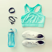 sportswear, bracelet, earphones and bottle set