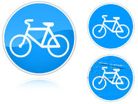 Variants a Bicycle path - road sign
